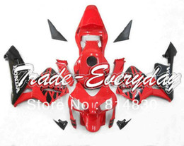 Wholesale Cbr Rear - Injection Mold Fairing With Rear Seat And tank cover fit for CBR 600 2003 2004 03 04 CBR 600 Light Red Black 10D60