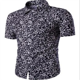 Wholesale Tropical Shirt Men S - Wholesale-2016 Men Hawaii Shirt Beach Leisure Fashion Floral Shirt Tropical Seaside Hawaiian Shirt Brand New Beach Shirt
