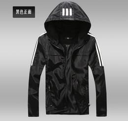 Wholesale Wholesale Zipper Jackets - Wholesale Men casual jacket men's fashion boutique slim movement hooded jackets Thin premium Thin premium 5pcs lot
