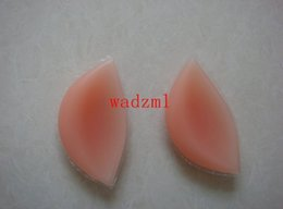 Wholesale Chicken 3d - Wholesale-1 set ( 2pcs) 180g set opp package Extra thick silicone breast enhancers 3D chicken fillets bra insert pads size A change to D