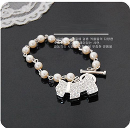 Wholesale Jewels Dog - 2013 new arrival Women's classic jewelry full jewel shiny with dog Pendant Bracelet,Free shipping,Christmas gift for girl,SL077