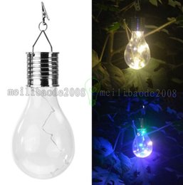 Wholesale Led Ball Nightlight - Garden LED Solar Light Outdoor Waterproof Bulb Camping Hanging Rotatable Nightlight Solar Energy Lamp Led Light Wedding MYY