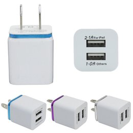 Ipad eu plug online-Buena calidad EE. UU. Viaje a la UE Hogar Cargador USB de pared Adaptador Adaptador Cargador de pared Enchufe 2 puertos para samsung galaxy note LG tablet ipad