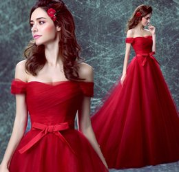 Wholesale Silk Tulle Fabrics - Burgundy V neck Cap Sleeve A-Line Velvet Fabric Evening Dresses High Quality Charming Celebrity Gowns Prom Dress 2017