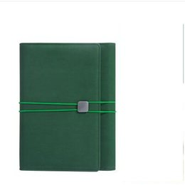 Wholesale Agenda Leather Cover - Wholesale- stationery notebook diary leather cover a5 planner binder spiral notebook A5ashion magnetic organizer agenda