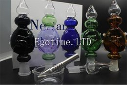 Wholesale Hot Cool Water - Hot sale DHL!!! Nectar Collector Perc Pendants Kit with 14mm Titanium Nail Wearable Glass Bongs oil rig Water-cooled and Spillproof