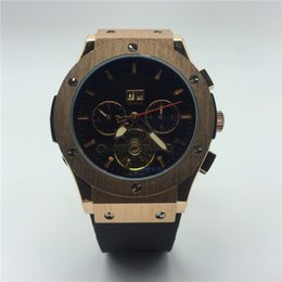 Wholesale man hand watch time - Really 5 pin calendar gold watches aaa luxury automatic mechanical watch rubber man top brand luxury watch men high quality Male clock