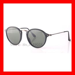 Wholesale Tortoise Eyes - Wholesale-Highest Quality Retro Round Men Women Sunglasses 100% UV400 Protection Eyes Round Fleck Tortoise Black Frame Green lens 49mm