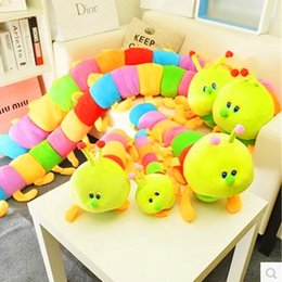Wholesale Stuffed Animal Caterpillars - New Arrival Caterpillar Baby Toy Music Early Educational Baby Rattles Stuffed Ring Bell Cartoon Animal Soft Plush Doll L143