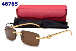 Wholesale Desinger Woman - New Fashion Desinger Sunglasses Men Women Oversize Rimless Sunglasses Buffalo Horn Glasses occhiali uomo bril monturas gafas