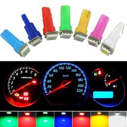Wholesale Bulb 2721 - LEEWA DC12V Auto T5 74 2721 5050 1-LED Wedge Base Dashboards Gauge bulbs Car LED Lights 7-Color #1259