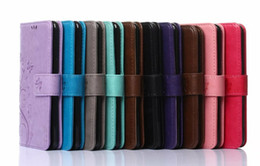 Wholesale For LG V10 For Moto G4 Galaxy C5 J120 J1 mini J510 J210 Flower Butterfly Wallet Leather Flip Cover Slot Stylish Credit Card Stand Skin Pouch