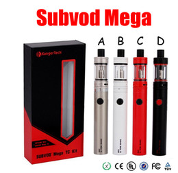 Wholesale Ego Gift Boxes - Kanger SUBVOD Mega TC starter Kit 2300mAh Battery 4.0ml Kanger TOPTANK Mini Topfill Atomizer Gift Box VS ego one AIO mega istick