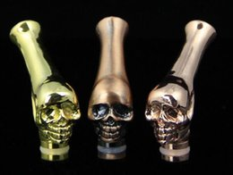 Wholesale Dragon E Cig - Metal Drip Tip Mouthpiece E cigarette Skull Drip Dragon Head animals shape for e cig rda kangertech smok Atomizer AAA quality