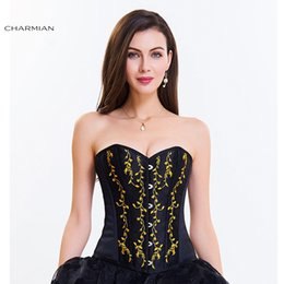 b27633fc288 Vintage Steampunk Corset Brocade Women Spiral Steel Boned Overbust Corset  Top Sexy Corsets and Bustiers Corselet