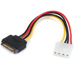Wholesale 15 Serial - 2016 hot sale high quality Plastic Copper 15 Pin Serial SATA Male to 4 Pin Female IDE Power Adapter Convertor Cable Cord