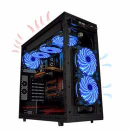 Wholesale Led Computer Case Fans - High Quality Best price 15 LED Light Quite 120mm DC 12V 4Pin PC Computer Case Cooling Cool Fan Mod
