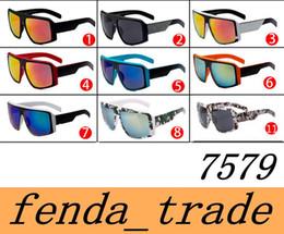 Wholesale Colorful Bicycles - Brand 7597 Fashion Sport Eyewear men women sungalsses Colorful Lens Big Frames Sunglasses Brand Eyewears Bicycle Sunglasses quality A+++