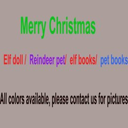 Wholesale Game Elf - Hot Christmas Elf Doll Plush toys Elves Xmas dolls Soft Back Books on the shelf Reindeer pets For Kids Holiday Christmas Gift