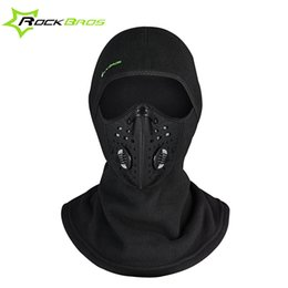 Wholesale Winter Cycling Fleece - Rockbros Winter Face Mask Cap Thermal Fleece Ski Mask Face Snowboard Shield Hat Cold Headwear Cycling Face Mask Fiter Scarf