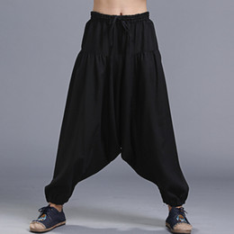 Wholesale Linen Drawstring Pants - New Hot Good Selling Men Women Unisex Casual Fashion Linen Loose Harem Pants Trousers Clothes 2028