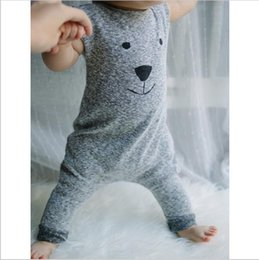Wholesale Boys Christmas Outfit 2t - Newborn Winter Rompers 2016 Cute Toddler Baby Girl Boy Bear Jumpers Rompers Playsuit Outfits Clothes 0-24M new brand free shipping