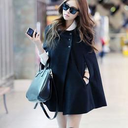 Wholesale Cashmere Blazer Women - 2017 Women Cloak Loose Artificial Cashmere Woolen Coat Casual Blazer Suits Pocket Autumn Cape Trench Coat Poncho Shawls Winter