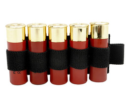 Wholesale hunting ammo - 1000D Portable Shell Reload Strip Shotgun Bullet Pouch Ammo Carrier Airsoft Tactical Hunting Rifle 5 Shells Cartridge Holder
