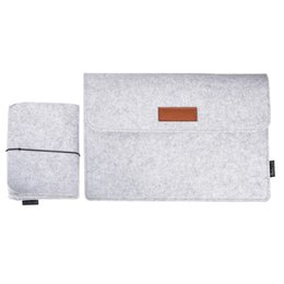 Wholesale Felt Laptop Cover - dodocool 12 Inch Laptop Felt Sleeve Envelope Cover Ultrabook Carrying Case Notebook Protective Bag with Mouse Pouch Free DHL Shipping DA58