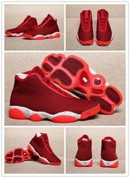 Wholesale Knit Fabrics Cheap - [With Box]Cheap online New Air Retro 13 13s Future Knitted Red Mens Basketball Shoes Sneakers Outdoors Athletics Sports Shoes for men US8-13