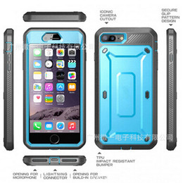 Wholesale Edge Series - Unicorn Beetle PRO Series Robot Case supcase Heavy Duty Rugged Hybird Soft TPU PC cover cases for iphone 7 6 6S plus 5S Galaxy S6 S7 edge