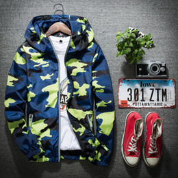 Wholesale Winter Mens Red Coats - New Arrival Autumn Winter Mens Hooded Jackets 3M Reflective Male Super Camouflage Coats Dust Proof Plus Size 5XL Polyester Zippered Jackets
