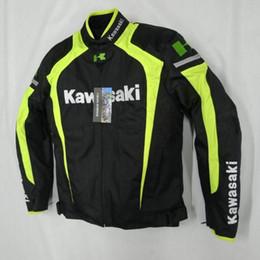 Wholesale Road Racing Clothing - 2016 new style kawasaki breathable Running jackets motorcycle jackets race jackets knight off-road jackets motorcycle clothing windproof k-