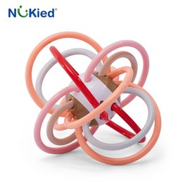 Wholesale Baby Toys Products - NUKied New arrival Manhattan Toy Rattle And Sensory Activity Tool Baby Feeder Silicone Teething Toys Baby Products for Teeth