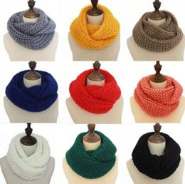 Wholesale Cotton Circle Scarf - New recommend 2016 new fashion women winter ring scarf scarves wrap shawls warm knitting neck circle cowl cnood Christmas scarf wholesale