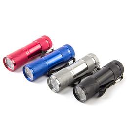 Wholesale High Power Uv Torch - Cheap 9LED Aluminium Mini Portable UV Ultra Violet Blacklight 9 LED Flashlight Torch Light Lamp 3AA Battery Powered Torches