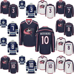 Wholesale Alexander Blue - Columbus Blue Jackets Hockey Jerseys #3 Seth Jones #7 Jack Johnson #8 Zach Werenski #10 Alexander Wennberg Stitched Men Youth Hockey Jersey