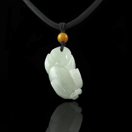 Wholesale Burma Necklace - The mythical wild animal in Burma jade pendant a goods on sale