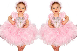 Wholesale Little Girls Formal Mini Dress - Cute Flower Girls Dress Spaghetti With Bows Decoration Infant Toddler Cupcake Gowns Pageant Dresses For Little Girl Formal Occasion