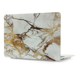 "Wholesale Cover For Apple Macbook Pro - Brand New Gold Marble Rubberized Hard Protective Shell Case Covers For Apple Macbook Air 11"" 13"" 15"" Pro Retina"