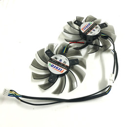 Wholesale Boost Cards Wholesale - Wholesale- 2PCS Graphics Card Fan 75MM 0.35A 4Pin VGA Cards Cooler For ZOTAC GTX660Ti-2GD5 GTX650Ti Boost Video card cooling