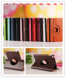 Wholesale Cover For Galaxy Tab3 - 360 Degree Rotation Smart Stand PU Leather Case Cover For Apple ipad Pro 4 Air mini 4 Retina Samsung galaxy Tab3 LG V495
