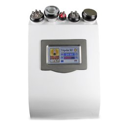 Wholesale 5in1 Ultrasonic Liposuction Machine - 5in1 Dissolved Slimming Ultrasonic Liposuction Cellulite Reduction 40K Cavitation Multipolar RF Vacuum Slimming Machine Face Skin Lifting