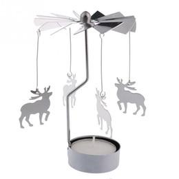 Wholesale Tea Lights Sale - 2015 Hot sales Revolving door Windmill Rotation Candlestick Candleholder Candle Tea Light Holder Christmas holiday gift
