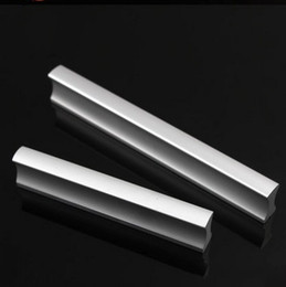 Wholesale aluminum cabinet handles - 10pcs Modern Aluminum Alloy Furniture Hardware Handles Door Knobs Dresser Drawer Wardrobe Kitchen Cabinets Cupboard Pull Door Accessories
