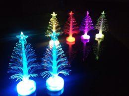 Wholesale Xmas Fiber Optics - Fiber Optic Christmas Tree Christmas Xmas Tree Color Changing Led Light Lamp Home Party Decoration Christmas Toy Christmas Santa Decors