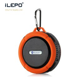 Wholesale Mp3 Bicycle Speakers - C6 Mini Bluetooth Speaker Waterproof Shower Portable Audio Player Hook And Suction Cup Wireless Music Player For Bicycle With Retail Package