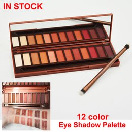 Wholesale eye shadows high quality - In stock 12 colors Eye Shadow PaletteHeat eyeshadow Palette High quality Eyeshadow with brushes DHL Free shipping