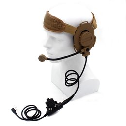 Wholesale U94 Ptt - Wholesale-HD03 Z Tactical Bowman Elite II Headset with U94 Style PTT for Kenwood BaoFeng UV-5R GT-3TP UV-82 BF-F8HP BF-F9 V2+ UV-5RE Plus