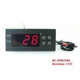 Wholesale Egg Incubator Temperature Controller - Mini AC220V 10A Digital Temperature Controller Thermostat Regulator With Thermocouple Sensor LED for Egg Incubator